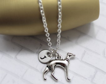 Italian Greyhound Necklace - Greyhound Jewelry - Personalized - Animal Lover - Greyhound Gifts