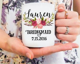 Bridesmaid Mug | Personalized Bridemaids Mug, Will you be my Bridesmaid, Bridesmaid Cup, Wedding Gift Ideas, Bridesmaid Coffee Mug