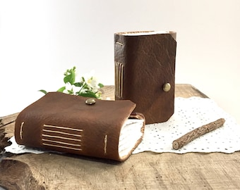 Small leather notebook, Little leather journal, Small leather journal, Small writing diary, Leather idea journal