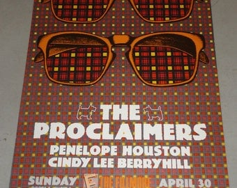 Bill Graham Presents The Proclaimers at The Fillmore Concert Poster