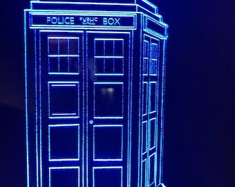 Dr. Who Inspired Tardis Desktop Lamp