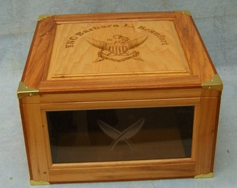 Personalized Coast Guard Hat Box