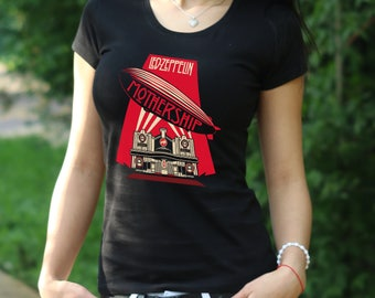 Led Zeppelin T-shirt Led Zeppelin shirt Led Zeppelin Womens Shirt Rock Tee Rock Heavy Metal T-shirt Women's T-shirt