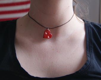 heart face necklace