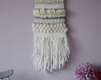 Woven Wool Neutral Wall Hanging - Ready to Ship