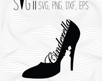 Cinderella Svg Files, Cinderella Studio 3, Svg For Silhouette, Svg For Cricut, Cinderella Clipart Eps Png Scalable Vector Cutting File Vinyl