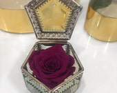 LIMITED EDITION- Eternity Rose In a bejeweled vintage box Mother's Day Special