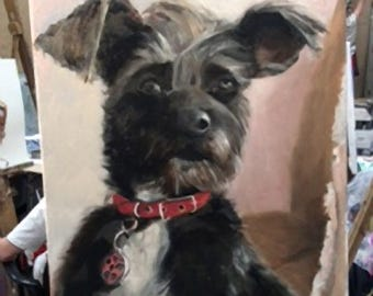 Dog Portrait, Pet Painting
