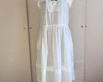 Sweet Swiss Dot Cotton Dress