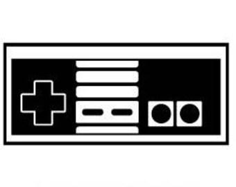 Nintendo Controller Concrete Print