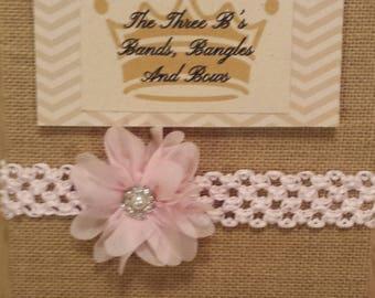 Pink Chiffon Flower Headband