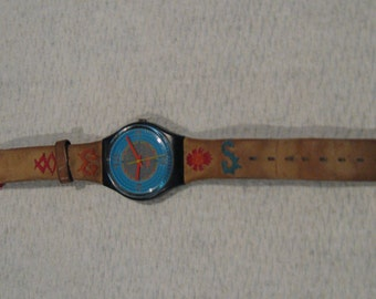 Swatch watch with a southwest design from the 1980s