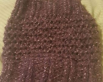 Purple Knit Bag