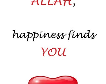 When you find Allah, happiness finds You card