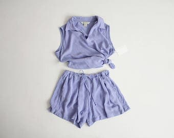 top and shorts set | 90s express | periwinkle clothing