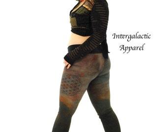 Hippie Pants - Yoga Pants -Boho Pants - Womens Pants - Womens Leggings - Festival Pants - Festival Legging - Hand Dyed Pants - Organic Pants