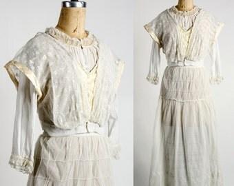 1910s Edwardian Blouse & Skirt Set