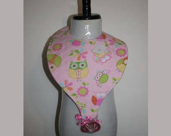 "Baby Bibs, Pacifier Bibs, Bibs with Pacifier, Bibs, Pacifier, "" Owls"""
