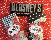KIT Valentine's Day Candy Bar Wraps / Chocolates for Sweetheart / Valentine Chocolate / Teacher Appreciation / Hershey Chocolate Bar