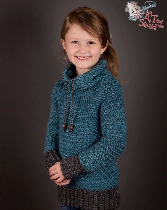 Crochet Sweater pattern Children top down crochet sweater