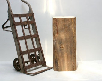 Timber Block Pedestal Stand Display