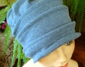 womens cotton hat chemo hat headwear headcovers slouchy snood hat beanie denim blue soft hat