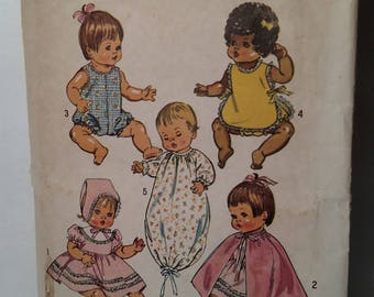 5275 Simplicity Ideal Doll Clothes Pattern 1972