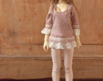 Pink sweater MSD and SD BJD