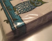 RESERVED Vintage Midcentury Sealed Package Owl Cocktail Napkins