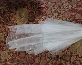 Bridal Veil White / Bachelorette Party Veil / DIY Veil / Bridal Shower