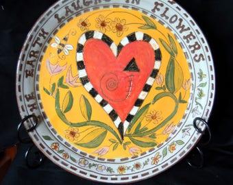 pottery celebration plate