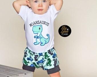 Dino Print Soft Knit Toddler Shorts