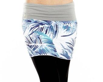 Little Skirt for Layering with Yoga Pants - Yoga Skirt - Yoga Print - Yoga Clothing
