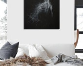 Large Giclee Print, contemporary canvas art print ballet, Black and White Wall Art Canvas Print Poster, Ballerina Art