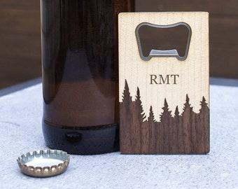 father's day gift, gift for dad, bottle opener, forest, personalized gift, custom engraving, gift for men, men's gift, gift for boyfriend,
