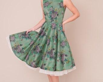 Liberty print vintage style dress