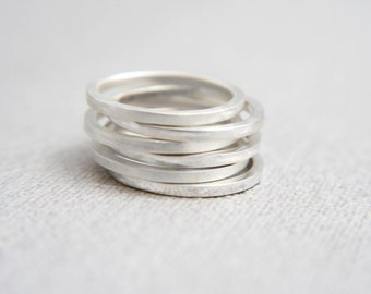 Stacking rings, Simple rings, Minimalist rings, Silver jewellery, Modern jewellery, contemporary jewelry,  Gift for her