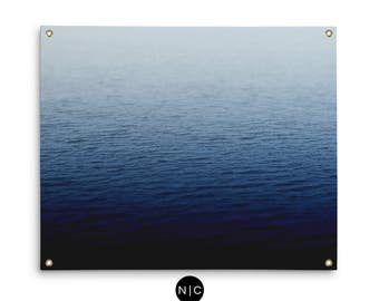 Cobalt Waters - Wall Tapestry, Blue Ocean Nautical Decor Home Interior Tapestry Hanging Beach Style Backdrop Accent. In Small Medium Large
