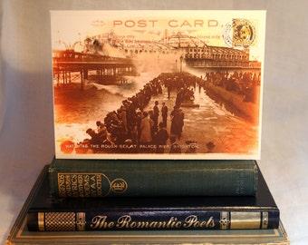 Brighton Palace Pier, Brighton Pier, Sussex, Seaside Postcard, Stamps, Seafront, Promenade, Victorian, Vintage, British, Greeting Card.