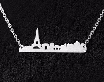 Eiffel Tower, Eiffel Tower Necklace, Eiffel Tower Jewelry, Paris Necklace, Paris Skyline, Paris Skyline Necklace, Paris, Paris Jewelry