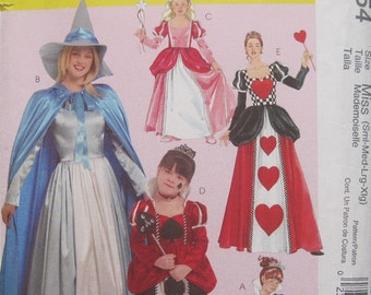 McCall's M5954 - Misses' Storybook Costumes - Sizes Miss Sml-Med-Lrg-Xlg. Pattern is uncut and factory folded.