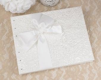 Wedding Photo Album, White Photo Album, Wedding Photo Book, Wedding Album, Photo Album, Wedding Gifts, Blank Pages, MADE TO ORDER
