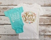 Big Sister Little Brother Outfit  /  / Big Sister Little Brother gift / Little brother outfit / Big sister Shirt