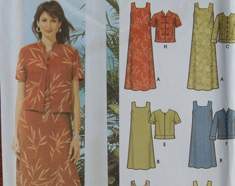 womens Pullover Dress & Jacket Sewing Pattern/ Simplicity 5959 Easy/ Misses Size 16- 18- 20- 22 Plus/ Sleeveless Summer Dress/Uncut