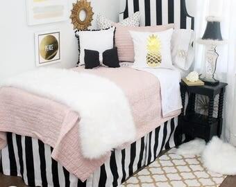 Awesome Black/White Stripe Dorm Room Extended Length 34 Part 12