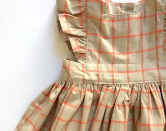 CHECK PLEASE // pinafore dress // toddler girls dress