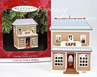 1997 Hallmark Cafe Nostalgic Houses and Shops Series Keepsake Ornament 14th #14 Restaurant Vintage Christmas Collection