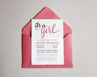 Baby Shower Invitation (Non-Traditional Design) Girl/Boy