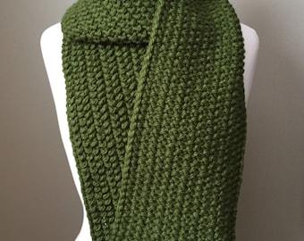 Eucalyptus chunky knit scarf