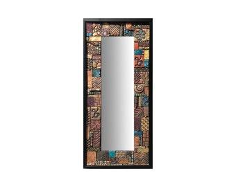 Mosaic Tile Mirror-Teal